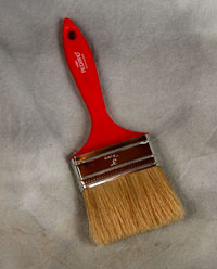 3 inch 75mm Red Brush Box