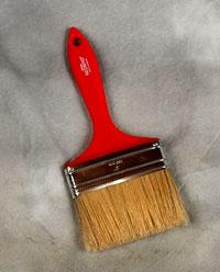 4 inch 100mm Red Brush