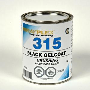 BLACK GELCOAT 1L BR