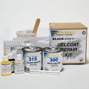 Black-Grey-White Gelcoat Repair Kit CY