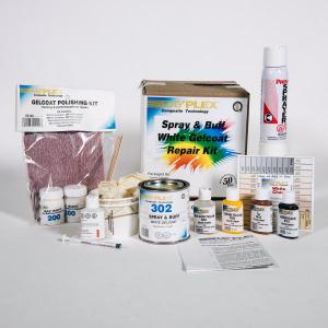 Spray & Buff White Gelcoat Repair Kit C4