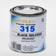 Black Brushing Gelcoat 250ml
