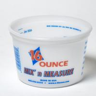 PLASTIC MEASURING TUB 16OZ