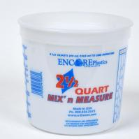 PLASTIC MEASURING TUB 64 OZ 2.5 QT